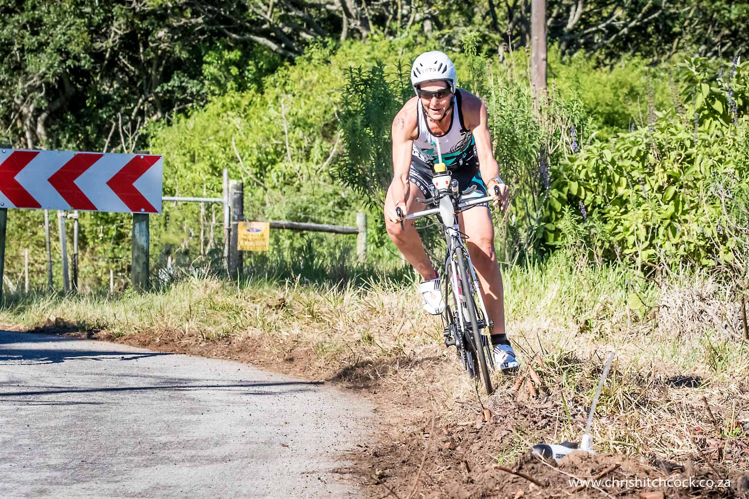 The route is challenging, and occasionally very tricky. Johannesburg based athlete Desiree Dickinson may have got this corner wrong, but she survived, and what remains in my mind is that she laughed all the way through the incident.